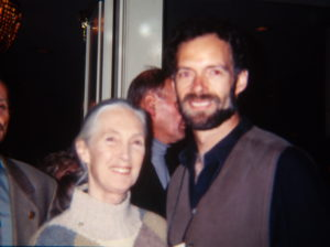Jane Goodall with Tim